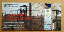 AUSCHWITZ HORROR Y MUERTE. PUBLICIDAD DE EXPOSICION FOTOGRAFICA. - Publicidad