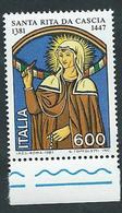 Italia, Italy, Italien, Italie 1981; Santa Rita Da Cascia ( 1381-1447 ) . Bordo Inferiore. - Cristianesimo