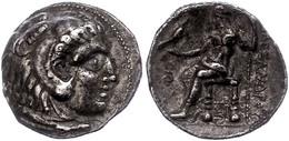 4 Makedonien, Sidon,Tetradrachme (15,90g), 313-312 V. Chr., Alexander III., Av: Herakleskopf Mit Löwenfell Nach Rechts,  - Antique