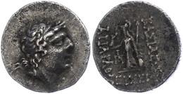 17 Drachme (3,93g),101-87 V. Chr., Ariarathes IX. Eusebes Philopator. Av: Kopf Nach Rechts. Rev: Athena Mit Schild Und S - Antique