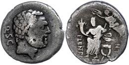 "20 P. Cornelius Lentulus Spinther, Denar (3,53g), 74 V. Chr., Rom. Av: Bärtiger Herkuleskopf Nach Rechts, Dahinter ""Q∙S∙ - Roman"