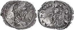 """28 Elagabalus, 219-220, Denar (3,35g), Rom. Av: Büste Nach Rechts, Darum """"IMP ANTONINVS AVG"""". Rev: Stehende Providentia  - Roman"""
