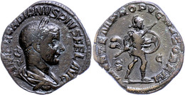 "29 Gordianus III., 238-244, Sesterz (18,31g), Rom. Av: Büste Nach Rechts, Darum ""IMP GORDIANVS PIVS FEL AVG"". Rev: Mars  - Roman"