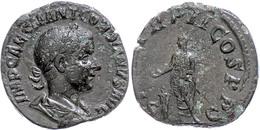 """32 Gordianus III., 239, Sesterz (12,35g), Rom. Av: Büste Nach Rechts, Darum """"IMP CAES M ANT GORDI ANVS AVG"""". Rev: Versch - Roman"""
