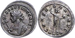 """36 Probus, 276-282, Antoninian (3,97g),Ticinum. Av: Gepanzerte Büste Mit Zepter Nach Links, Darum """"IMP C PROBVS AVG CONS - Roman"""