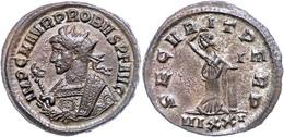 """37 Probus, 276-282, Antoninian (4,01g), Ticinum. Av: Gepanzerte Büste Mit Zepter Nach Links, Darum """"IMP C M AVG PROBVS P - Roman"""