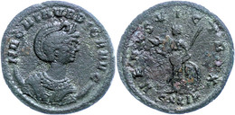 "38 Magnia Urbica, 283-285, Antoninian (2,34g), Ticinum. Av: Büste Nach Rechts, Darum ""MAGNIA VRBICA AVG"". Rev: Stehende  - Roman"