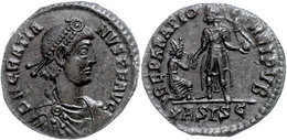 "40 Gratianus, 367-383, Maiorina (4,66g), Siscia. Av: Büste Nach Rechts, Darum ""D N GRATIA - NVS P F AVG"". Rev: Stehender - Roman"