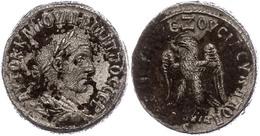43 Syrien, Antiochia, Tetradrachme (10,20g), Philippus I. Arabs, 249. Av: Büste Nach Rechts, Darum Umschrift. Rev: Stehe - Roman