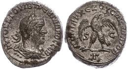 46 Syrien, Antiochia, Tetradrachme (11,96g), Trebonianus Gallus, 251-256. Av: Büste Nach Rechts, Darum Umschrift. Rev: S - Roman