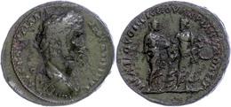 54 Thrakien, Hadrianopolis, Æ (15,86g), Antoninus Pius, 138-161. Av: Büste Nach Rechts, Darum Umschrift. Rev: Stehender  - Roman