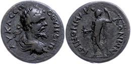 55 Koinon Der Makedonen, Beroia, Æ (12,86g), Septimius Severus, 193-211. Av: Büste Nach Rechts, Darum Umschrift. Rev: St - Roman