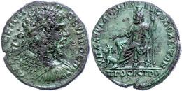 56 Moesia Inferior, Nikopolis, Æ (12,24g), Septimius Severus, 193-211. Av: Büste Nach Rechts, Darum Umschrift. Rev: Thro - Roman