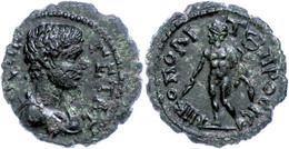 58 Moesia Inferior, Nikopolis, Æ (2,95g), Geta, 198-212. Av: Büste Nach Rechts, Darum Umschrift. Rev: Nach Links Schreit - Roman