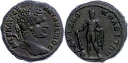 61 Thrakien, Hadrianopolis, Æ (13,45g), Caracalla, 198-217. Av: Büste Nach Rechts, Darum Umschrift. Rev: Nackter Herakle - Roman