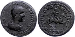 66 Koinon Der Makedonen, Beroia, Æ (12,79g), Diadumenianus, 217-218. Av: Büste Nach Rechts, Darum Umschrift. Rev: Caesar - Roman
