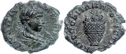67 Moesia Inferior, Nikopolis, Æ (2,88g), Elagabalus, 218-222. Av: Büste Nach Rechts, Darum Umschrift. Rev: Korb Mit Wei - Roman