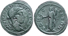 68 Moesia Inferior, Odessos, Æ (10,35g), Elagabalus, 218-222. Av: Büste Nach Rechts, Darum Umschrift. Rev: Stehender The - Roman