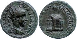 76 Makedonien, Thessalonica, Æ (11,22g), Gordianus III., 238-244. Av: Büste Nach Rechts, Darum Umschrift. Rev: Tempelans - Roman