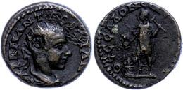 77 Makedonien, Thessalonica, Æ (12,79g), Gordianus III., 238-244. Av: Büste Nach Rechts, Darum Umschrift. Rev: Kabir Im  - Roman