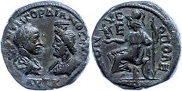 79 Moesia Inferior, Dionysopolis, Æ (11,99g), Gordianus III., 238-244. Av: Die Büsten Des Kaisers Und Des Sarapis Einand - Roman