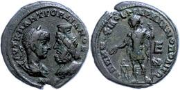 83 Moesia Inferior, Markianoopolis, Æ (13,51g), Gordianus III., 238-244. Av: Die Büsten Des Kaisers Und Des Sarapis Eina - Roman