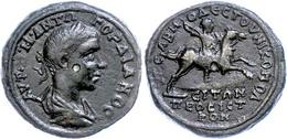 85 Moesia Inferior, Nikopolis, Æ (12,72g), Gordianus III., 238-244. Av: Büste Nach Rechts, Darum Umschrift. Rev: Kaiser  - Roman