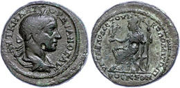 87 Moesia Inferior, Nikopolis, Æ (14,34g), Gordianus III., 238-244. Av: Büste Nach Rechts, Darum Umschrift. Rev: Thronen - Roman
