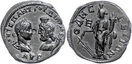 90 Moesia Inferior, Odessos, Æ (11,76g), Gordianus III., 238-244. Av: Die Büste Des Kaisers Und Des Theos Megas Mit Modi - Roman