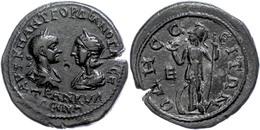91 Moesia Inferior, Odessos, Æ (12,37g), Gordianus III., 238-244. Av: Die Büste Des Kaisers Und Tranquillinas Einander G - Roman