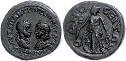 92 Moesia Inferior, Odessos, Æ (15,36g), Gordianus III., 238-244. Av: Die Büste Des Kaisers Und Tranquillinas Einander G - Roman