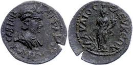 101 Pisidien, Seleukeia Sidera, Æ (5,40g), Tranquillina, 238-244. Av: Büste Nach Rechts, Darum Umschrift. Rev: Stehende  - Roman