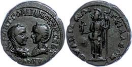 105 Thrakien, Anchialos, Æ (10,42g), Gordianus III., 238-244. Av: Die Büsten Des Kaiserpaares Einander Gegenüber, Darum  - Roman