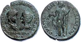 106 Thrakien, Anchialos, Æ (13,23g), Gordianus III., 238-244. Av: Die Büsten Des Kaiserpaares Einander Gegenüber, Darum  - Roman