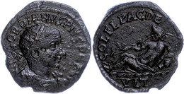 111 Thrakien, Deultum, Æ (6,45g), Gordianus III., 238-244. Av: Büste Nach Rechts, Darum Umschrift. Rev: Flussgott Lagert - Roman
