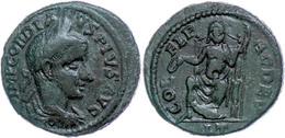 112 Thrakien, Deultum, Æ (6,66g), Gordianus III., 238-244. Av: Büste Nach Rechts, Darum Umschrift. Rev: Thronender Zeus  - Roman