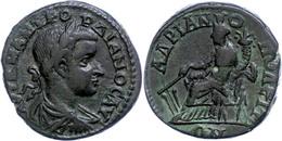 118 Thrakien, Hadrianopolis, Æ (10,80g), Gordianus III., 238-244. Av: Büste Nach Rechts, Darum Umschrift. Rev: Sitzende  - Roman