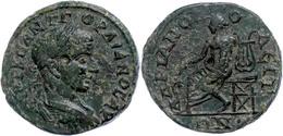 119 Thrakien, Hadrianopolis, Æ (8,78g), Godianus III., 238-244. Av: Büste Nach Rechts, Darum Umschrift. Rev: Thronender  - Roman