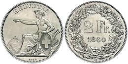 798 2 Franken, 1860, Eidgenossenschaft, HMZ 2-1201, F. St. - Switzerland