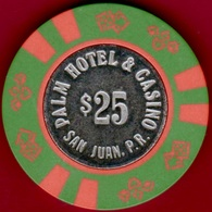 $25 Casino Chip. Palm, San Juan, Puerto Rico. K54. - Casino