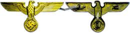 1180 Mützenadler Für Einen Politischen Leiter Der NSDAP, Für Die Schirmmütze, Aluminium Vergoldet, Mit Punze RZM Und M 1 - Army & War