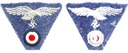 1188 Hoheitsabzeichen, Stoff, Baschlik-Mütze, Getragen, Zustand II.  II - Army & War