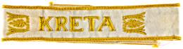 """1189 Ärmelband """"Kreta"""", Maschinengestickte Ausführung, 44 Cm, Leichte Tragespuren, Zustand II., Katalog: OEK 3879 II - Army & War"""