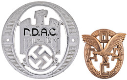 1197 ADAC Sportabzeichen In Bronze, Rückseitig Mit Herstellerpunze Wiedmann, An Nadel, Im Originaletui, Zustand I, Dazu  - Army & War
