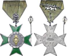 1200 Deutscher Jägerbund (DJB), Ehrenkreuz Für Jägertreue 2. Klasse Mit Eichenlaub Und Ehrennadel In Gold, Ehrenkreuz Bu - Army & War