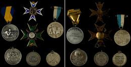 1203 Konvolut Von 5 Schützenmedaillen Und 2 Schützenkreuze, Unterschiedliche Herkunft Und Erhaltungen. - Army & War