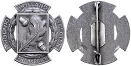 """1204 Patriotisches Abzeichen, """"Holland-Belgien-Frankreich-England"""", Eichenblatt Mit 2 Eicheln Als Symbol Für Treue, Stan - Army & War"""