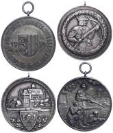 1209 2x Medaille Deutsches Bundesschiessen, 1x 18. Westpr. Bundes-Schiessen Marienburg 30.6.-1.7.30 Und 1x 20. Deutsches - Army & War