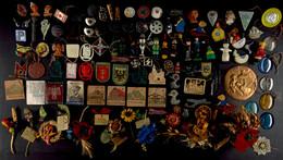 """1214 Sammlung Von über 100x WHW-Abzeichen Der Reichsstraßensammlungen, Dazu Plakette """"Wir Helfen Durch Opfer"""" Der Gau Dü - Army & War"""