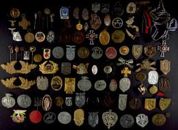 1215 Sammlung Von über 80x Tagungs.- Und Veranstaltungsabzeichen, Teilweise Doppelt Oder Mehrfach, Dazu Diverse Weitere  - Army & War